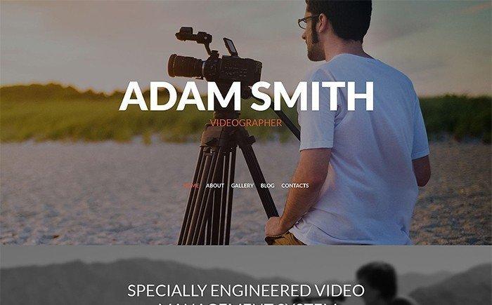 Adam Smith - Videographer Responsive WordPress Theme