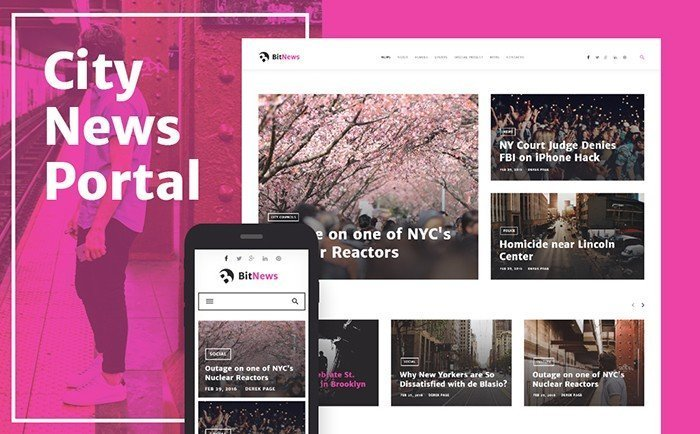 BitNews - News Portal WordPress Theme
