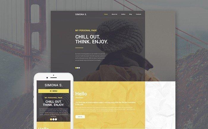 Simona S. - Personal Page WordPress Theme
