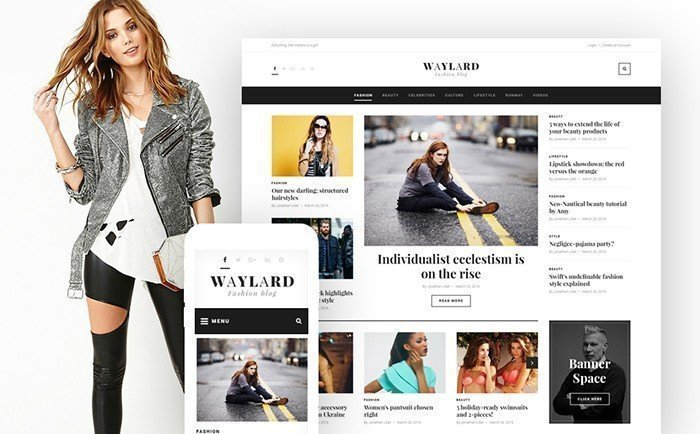 Waylard - Fashion Blog WordPress Theme