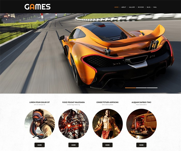 Entertainment Portal Responsive WordPress Template