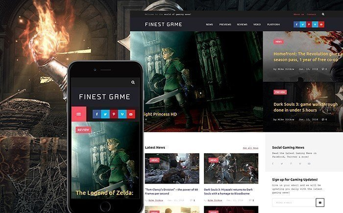 10 Best Gaming WordPress Themes 2017