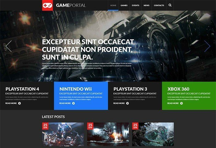 Playstation Gaming Fan Board WordPress Template
