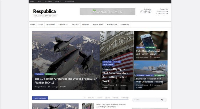 Respublica WordPress Theme