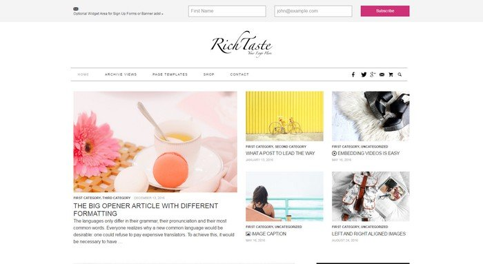 Rich Taste WordPress Theme