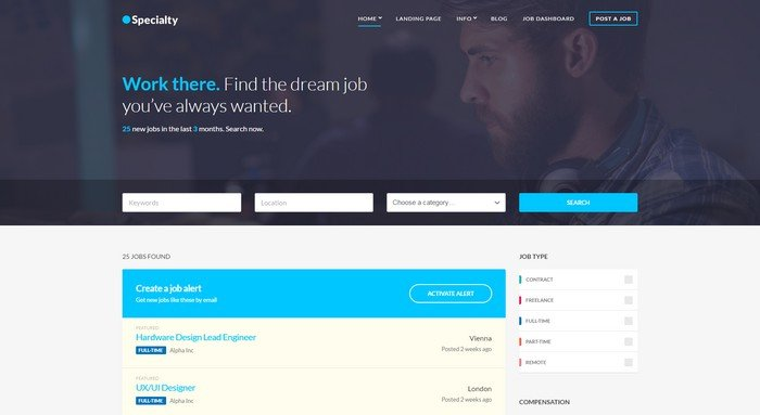 Specialty WordPress Theme