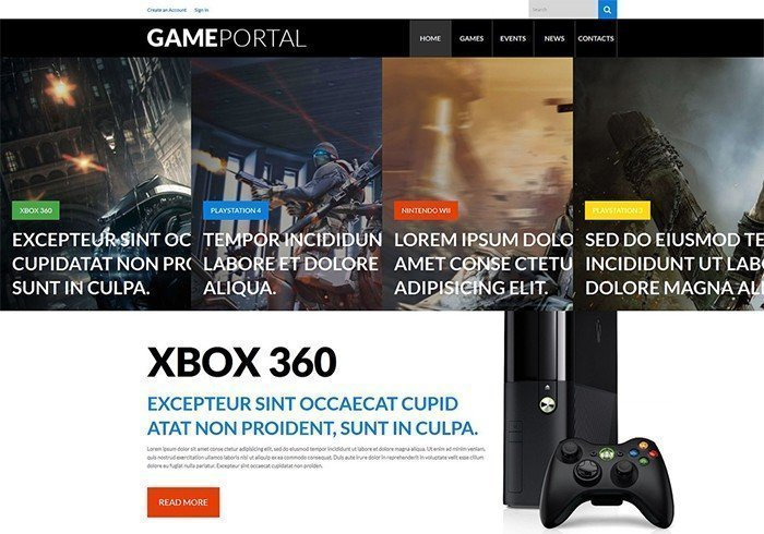 Video Gaming Entertainment WordPress Template