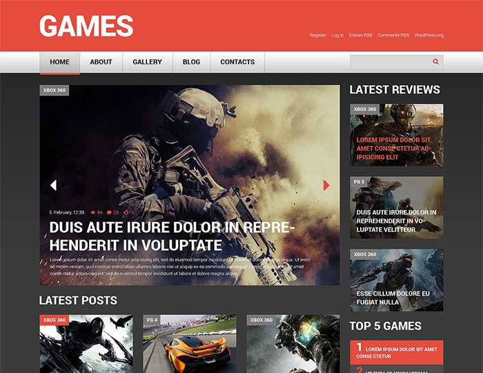 Warrior Games Portal Responsive WordPress Template