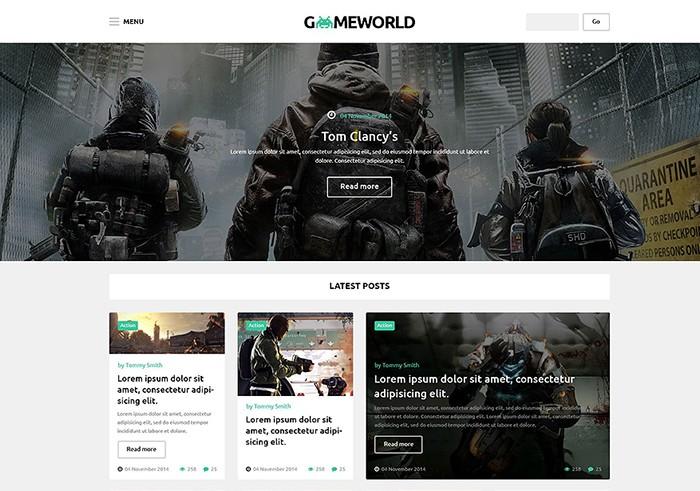 World of Games WordPress Template