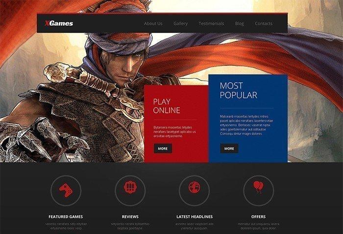 X-Games Responsive WordPress Template