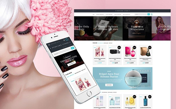 Perfume and Cosmetics Store Responsive OpenCart Template