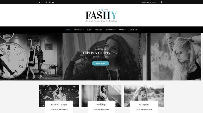 Fashy - A Responsive WordPress Fashion Blog Theme