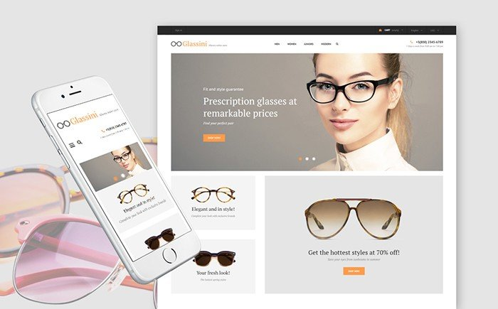 Glassini – Glasses Store Responsive PrestaShop Template