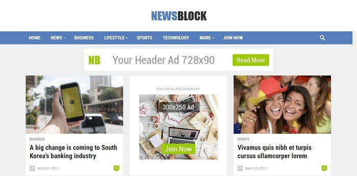 NewsBlock WordPress Theme