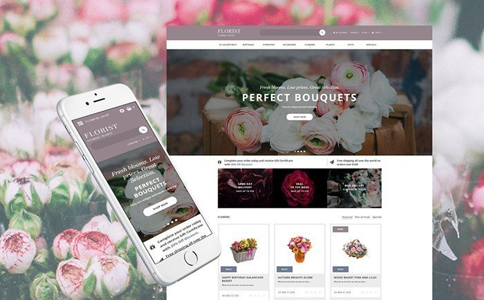 Perfect Bouquet Responsive OpenCart Template