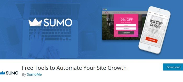 Sumo provides free tools you need to grow your WordPress site.
