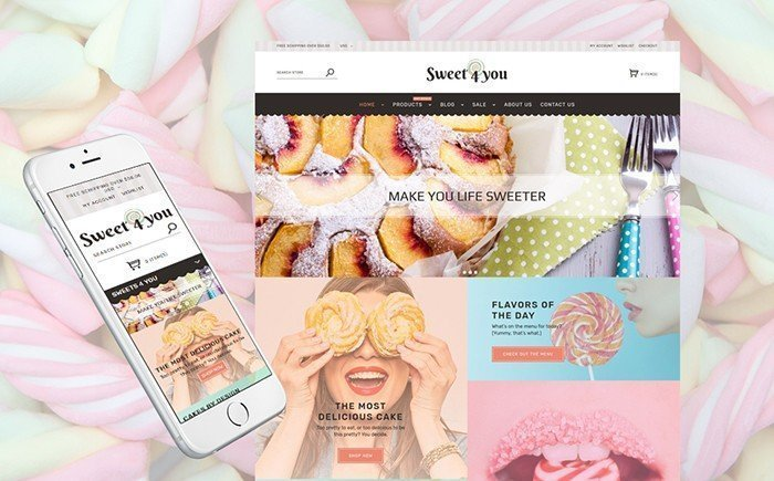 Sweet4you – Candy Shop Responsive Shopify Template
