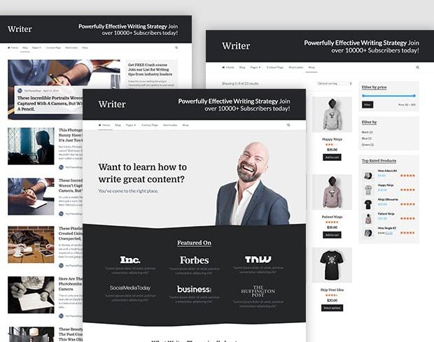 Writer – Professional WordPress Theme for Writers and Freelancers