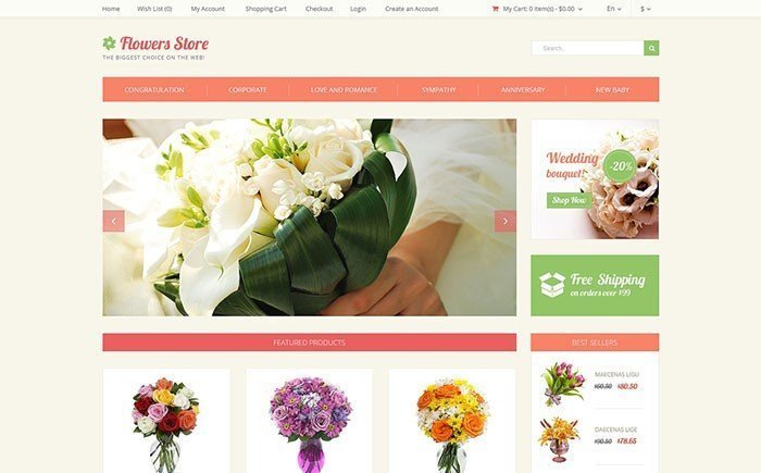 Flower Store OpenCart Template