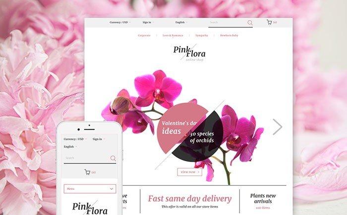 Pink Flora PrestaShop Theme