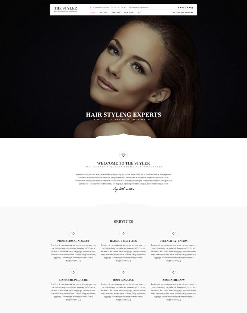 The Styler - A Stylish Health & Beauty WordPress Theme