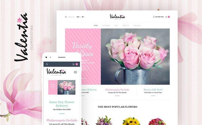 Valentia - Flower Store WooCommerce Theme