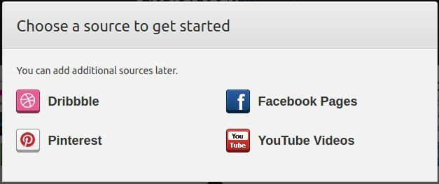 To configure your YouTube source, click on the YouTube icon.