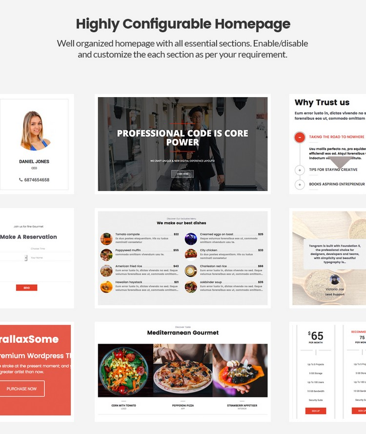 Highly Configurable Homepage