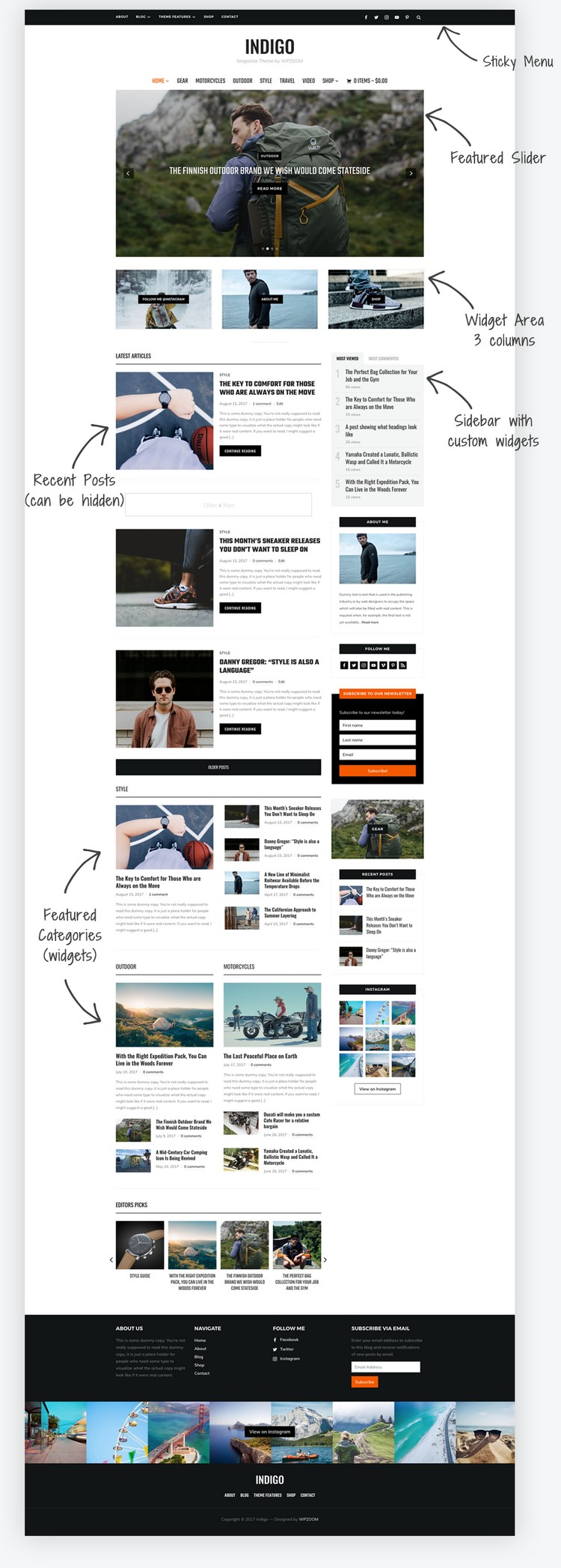 Indigo - A WordPress Theme for Magazines and Blogs