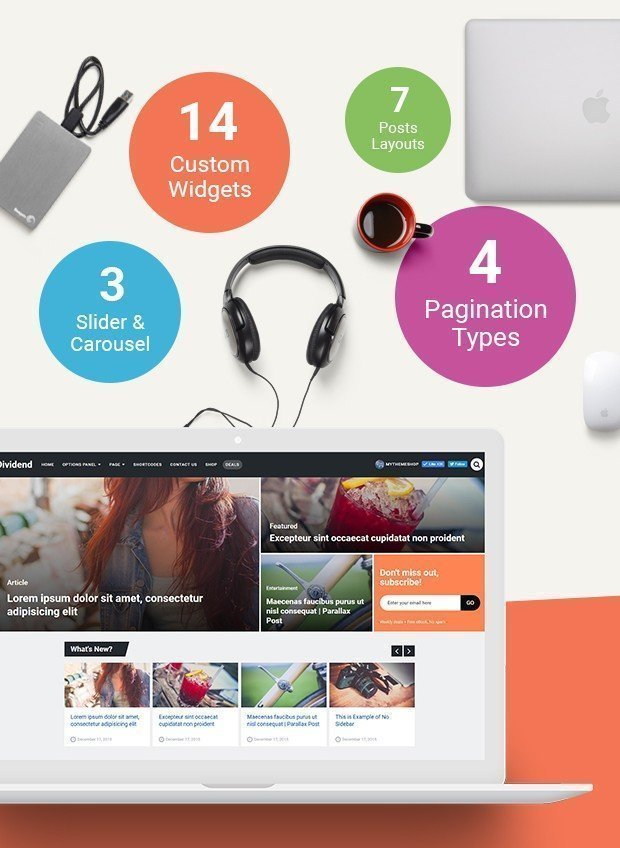 Dividend Magazine WordPress Theme from MyThemeShop