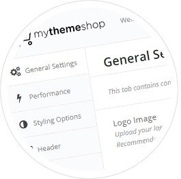 The theme comes with an advanced theme options panel .