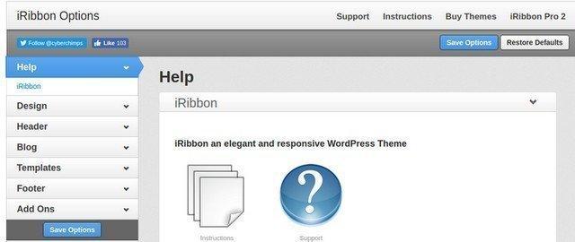 Theme and customization options.