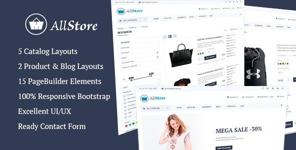 From ThemeForest, you can grab AllStore, a multi-concept eCommerce shop template.