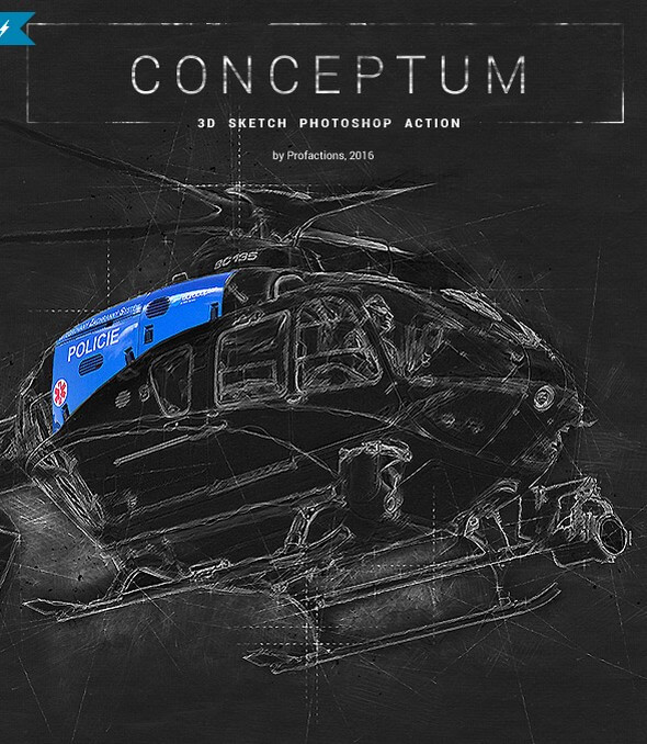 Download Conceptum to transform your images to technical sketch look with 3D elements.