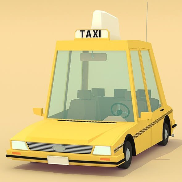 Grab a LowPoly version of Taxi vehicle At 3DOcean.