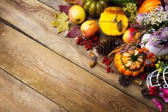 At PhotoDune you can download a beautiful photo with thanksgiving arrangement.
