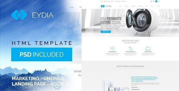 Eydia is a multi-purpose HTML5 Template you can use for any kind of business sites.