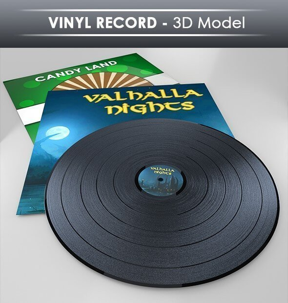 This is a 3D Model of a vinyl recorder.
