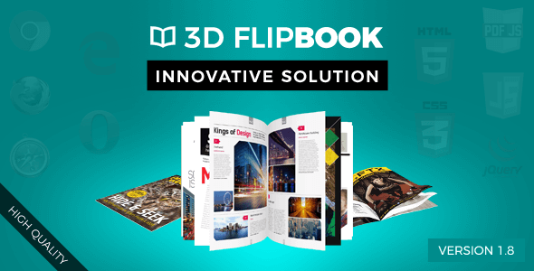 If you want to create a flipping book, then this 3D FlipBook is jQuery plugin is a perfect choice..