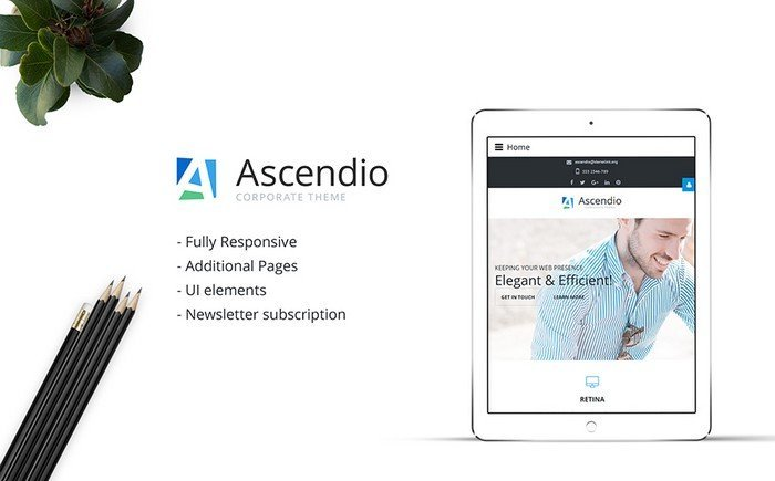Ascendio – Hi-res and Feature-rich Business Joomla Template