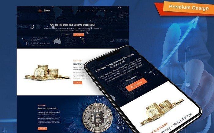 Bitcoin – Leading Bitcoin Company Moto CMS 3 Template