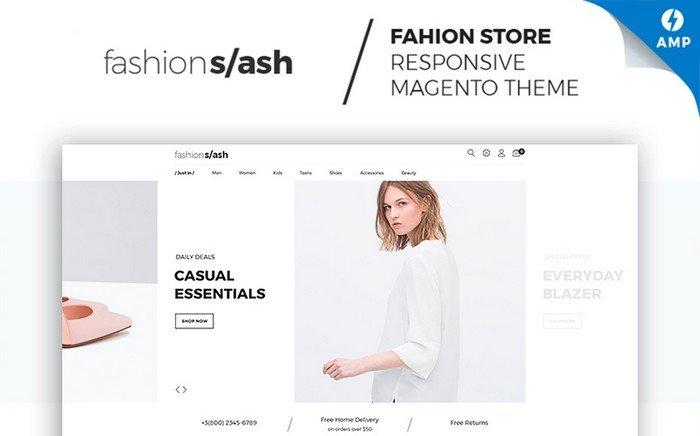 Fashion Slash – Attractive AMP Fashion Boutique Magento Theme