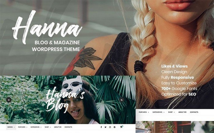 Hanna - Voguish Blog & Magazine WordPress Theme