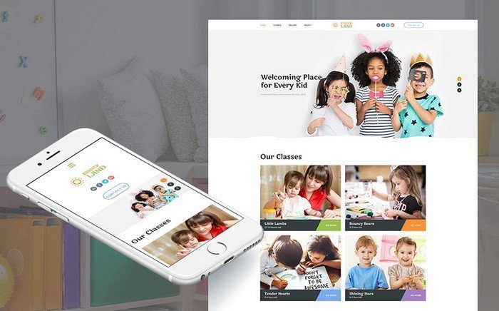 KinderLand – Incredible Kids Center Moto CMS 3 Template