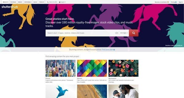 Shutterstock have more than 28 million comprehensive vectors, icons and photo collections.
