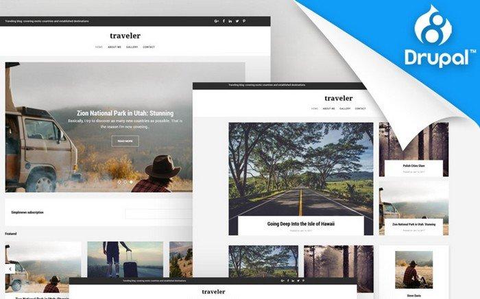 Traveler – Top-notch Travel Blog Premium Drupal Template