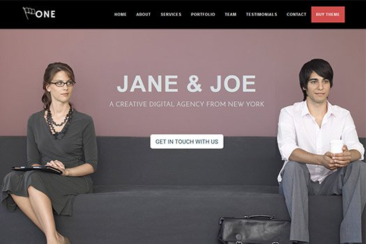 One Page Business Pro WordPress Theme