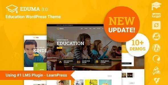 Education WP is one of the most iconic themes for e-learning on the internet.