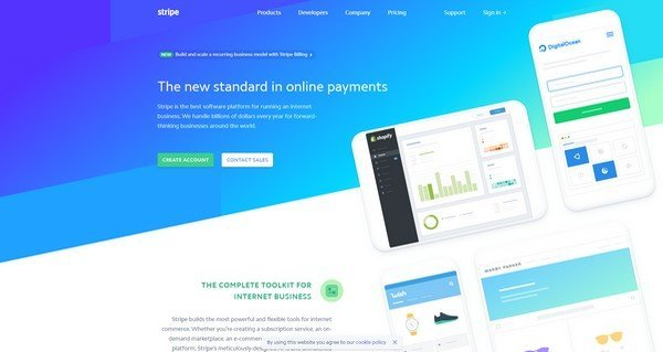 Stripe supports more than 135 currencies and accepts payments through credit and debits cards..