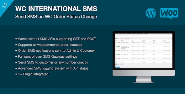 WooCommerce International SMS is a plugin for WordPress